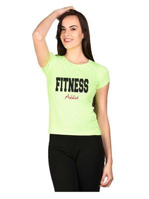 LetsFlaunt LFNEW10032 Green Women T-Shirt