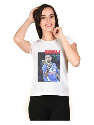 LetsFlaunt LFNEW10079 White Women T-Shirt