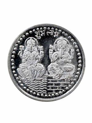 Vridaann LG01 Silver Laxmi Ganesh Coins