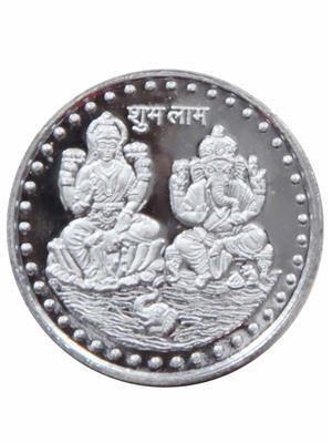 Vridaann LG02 Silver Laxmi Ganesh1 Coins