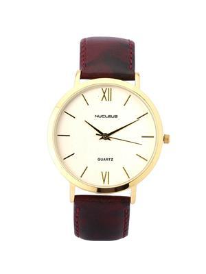 Nucleus LGSM Formal Leather Men Wrist Watch