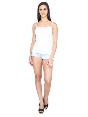 Ansh Fashion Wear Ling-Spg-229-White Women Camisoles