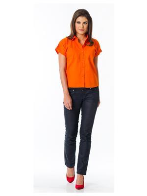 Lisova Li-Orng-Maggia-Shrt Orange Women Shirt