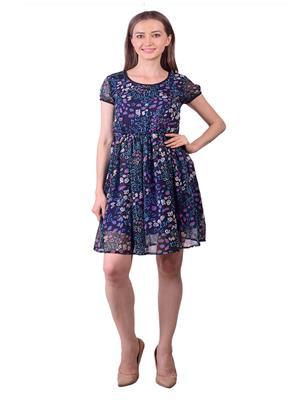 Lee Marc Lmwdn24 Blue Women Dress