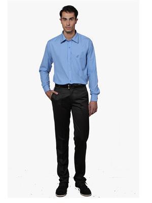 Lee Marc  Lm Light Blue Men Casual Shirt