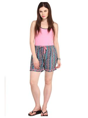 Lenora LN3013 Multicolored Women Short