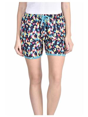 Lenora LN3019 Multicolored Women Short