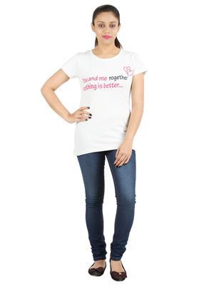 Ymfonline LOVE TEE-WHITE Women T-Shirt