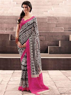 LT Fabrics 20022 Black Saree