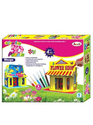 Annie Lw-An049 Colouring 3D Puzzle Shop