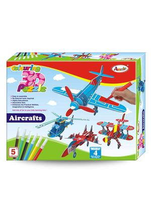 Annie Lw-An050 Colouring 3D Puzzle Aircraft