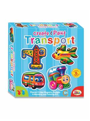 Ekta Lw-Et012 Multicoloured Create & Paint Transport Fun Game