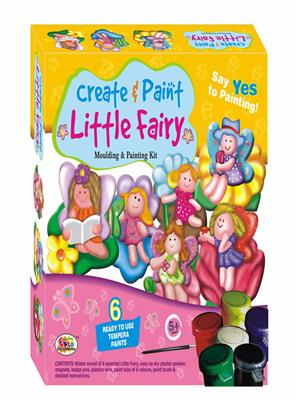 Ekta Lw-Et016 Multicoloured Create & Paint Little Fairy Fun Game