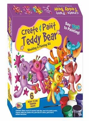 Ekta Lw-Et017 Multicoloured Create & Paint Teddy Bear Fun Game