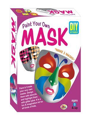 Ekta Lw-Et043 Multicoloured Paint Your Own Mask Fun Game