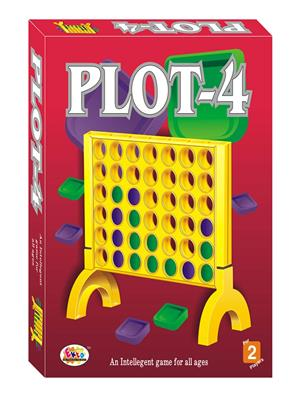 Ekta Lw-Et046 Multicoloured Plot-4 Board Game