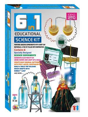 Ekta Lw-Et068 Multicoloured 6 In 1 Educational Science Kit