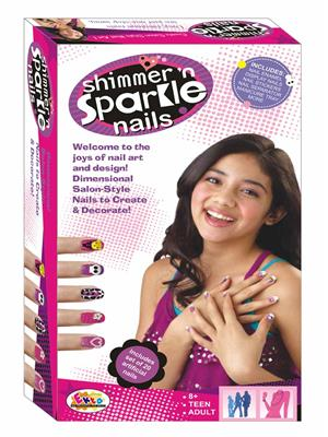 Ekta Lw-Et075 Multicoloured Shimmer Sparkle Nails