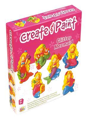 Ekta Lw-Et076 Multicoloured Create & Paint Glitter Mermaid Fun Game