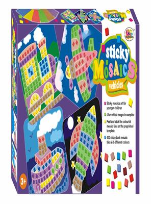 Ekta Lw-Et081 Multicoloured Sticky Msaics Vehicles