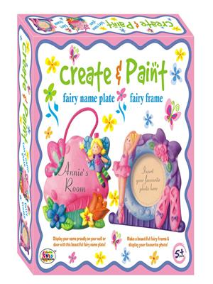 Ekta Lw-Et085 Multicoloured Create & Paint Fairy Name Plate