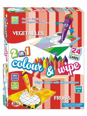Ekta Lw-Et112 Multicoloured Colour & Wipe Vegetables And Fruits
