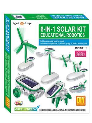 Ekta Lw-Et117 Multicoloured 6In1 Solar Kit Robotics Series-1