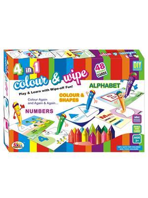 Ekta Lw-Et129 Multicoloured 4 In 1 Colour & Wipe