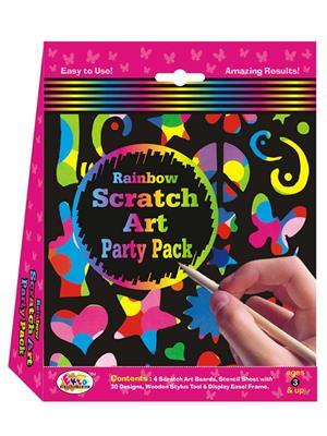Ekta Lw-Et154 Multicoloured Rainbow Scratch Art Party Pack