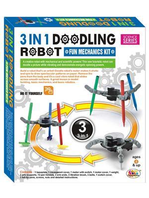 Ekta Lw-Et156 Multicoloured Doodling Robot Fun Machanics Kit 3 In 1