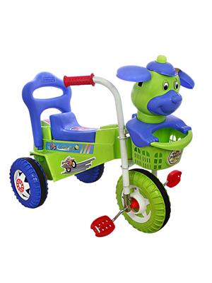 Playtool Lw-Pi011Bgrn Multicolored Speedy Tricycle Musical Dog Face