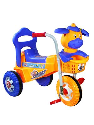 Playtool Lw-Pi011Borg Multicolored Speedy Tricycle Musical Dog Face