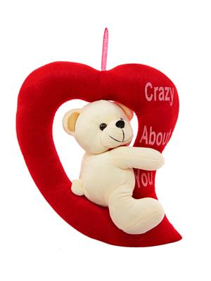 Dealbindaas Lw-Vk085 Cream Loving Teddy Bear