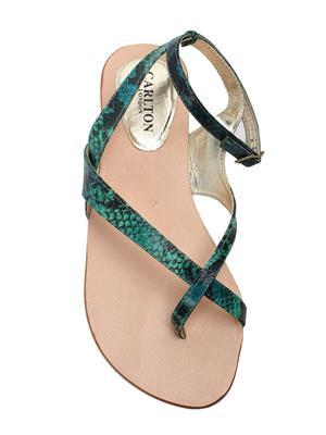 Carlton London CLL-2781 Green Womens Sandals