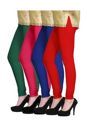 Angel Craft Vir-2-Ac Multicolored Women Leggings Set Of 4