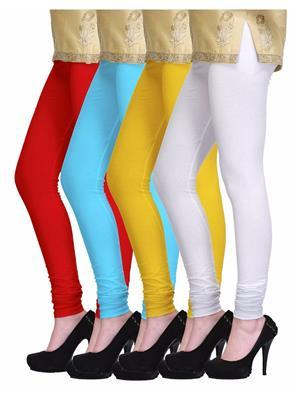 SASSILY Combo8-Multicolored Women legging Pack 0f 4