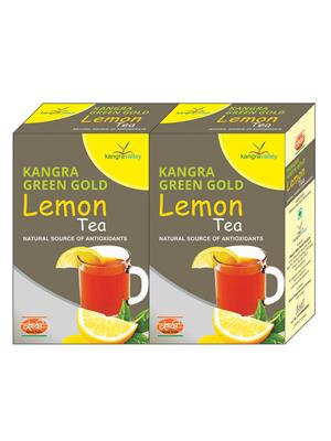 KHADI Lemon Green Gold Tea (Pack of 2)
