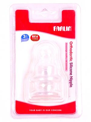 Farlin M-3-2 Unisex-Baby Bottle Nipples