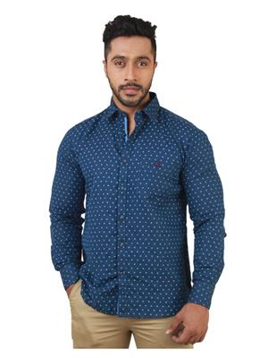 Crimsoune Club MA3626 Blue Men Casual Shirt