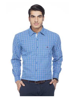 Crimsoune Club MA3651 Blue Men Casual Shirt