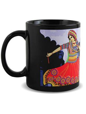 Kolorobia MBG15 Graceful Garba Black Mug