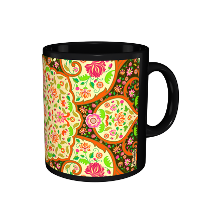 Kolorobia MBMGD24 Mughal Dark Black Mug