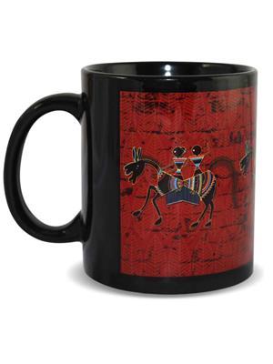Kolorobia MBW11 Classic Warli Black Mug