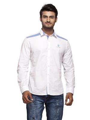 Numero Uno CMSHFA-139 White Men Casual Shirt