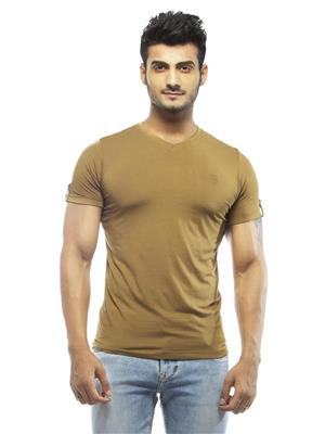 Spykar RTS-S15-21 Brown Men T-Shirt