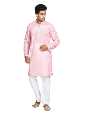 Traditions GK15246 Red Mens Kurtas