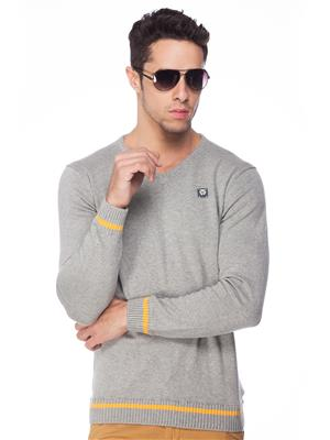 Spykar RTS W14-07 Grey Men Sweater