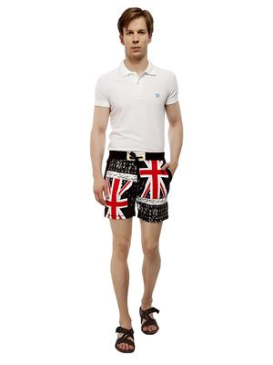 13TH Avenue MCS01_FLAGPRINT Black Men Shorts