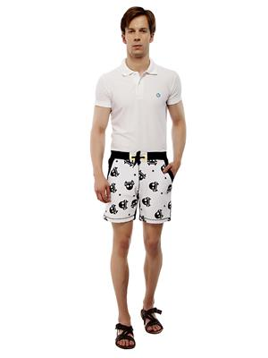 13TH Avenue MCS06_SKULLPRINT Black Men Shorts