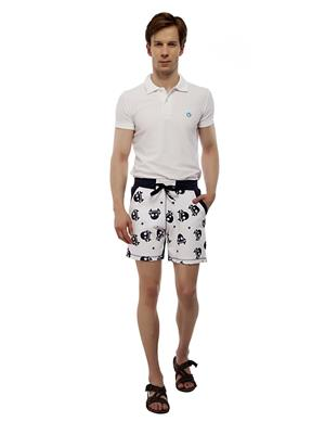 13TH Avenue MCS04_SKULLPRINT Blue Men Shorts